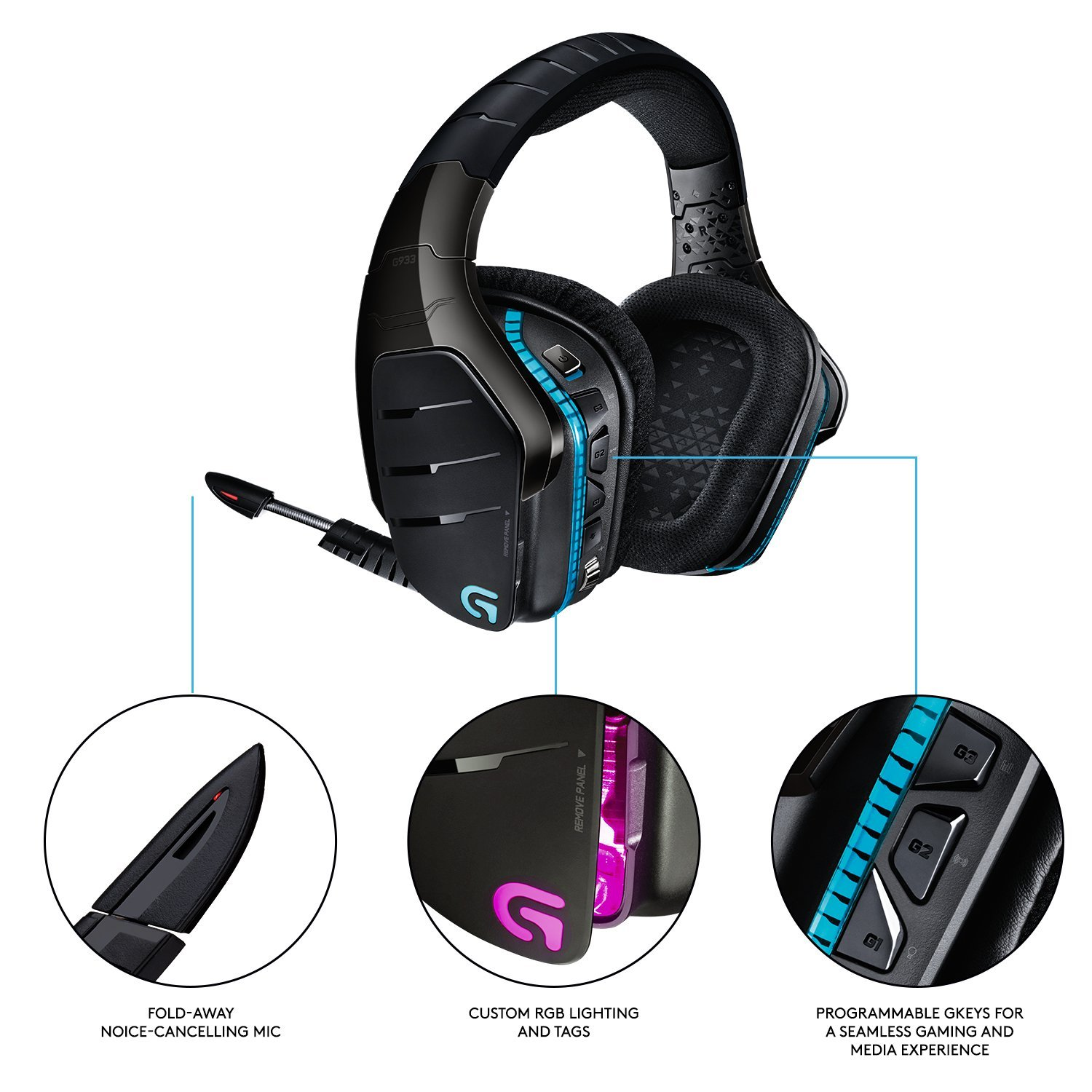 Gaming Headset Logitech G933 Wireless
